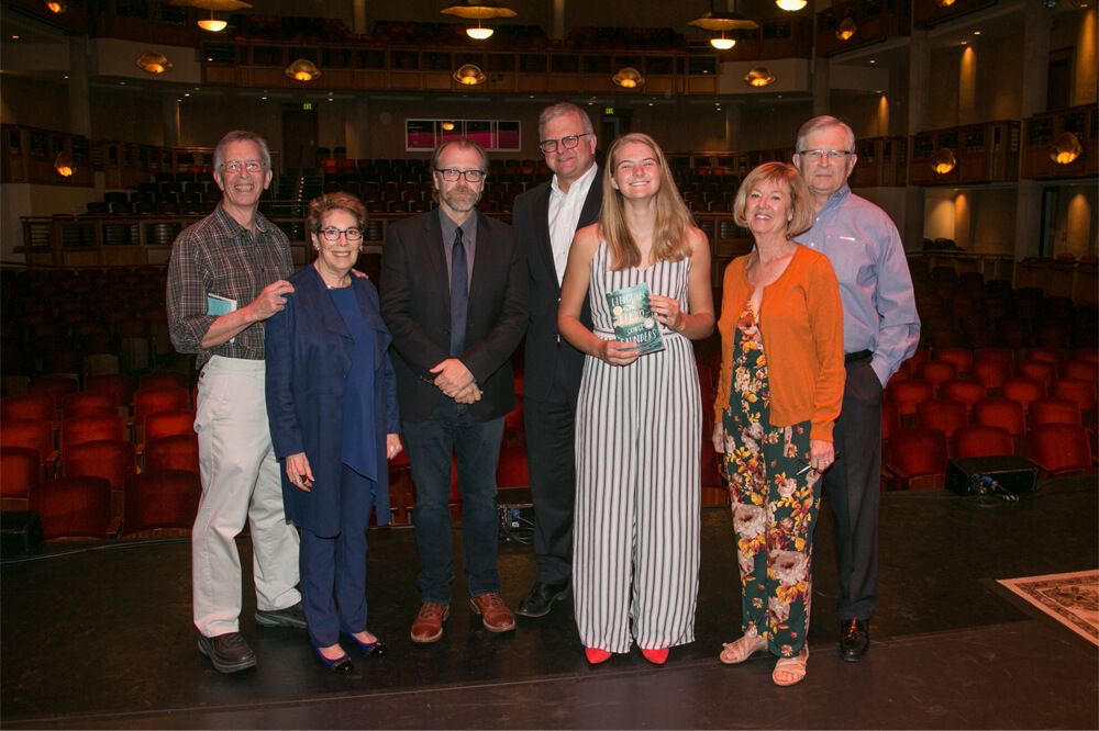George Saunders and Podium Event Photo